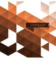 Abstract geometric brown background vector image vector image