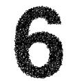 alphabet 6 vector image vector image