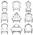 Baroque luxury style armchair furniture set vector image vector image