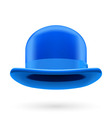 Blue bowler hat vector image vector image
