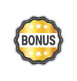 bonus label sticker golden icon seal sale sign vector image vector image
