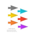 bright colorful cursors isolated vector image