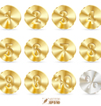 Button gold number vector image vector image