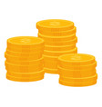coins dollar money profit from business vector image vector image