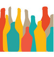Colored background with bottles of alcohol vector image vector image