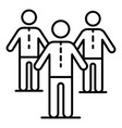 company people team icon outline style vector image vector image