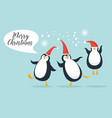 cute funny pengguins vector image