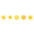 cute suns sunshine emoji cute smiling faces vector image