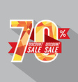 Discount 70 Percent Off vector image vector image