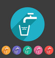 drinking water point tap icon flat web sign symbol vector image