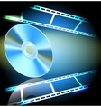 dvd and filmstrip vector image