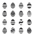 easter eggs icon isolated background set vector image
