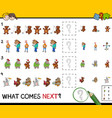 educational pattern activity game for kids vector image vector image