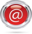 email red glass resize vector image vector image