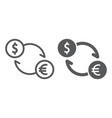 exchange line and glyph icon finance and banking vector image vector image
