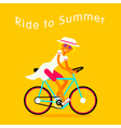 Girl On Bike Text vector image vector image