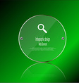 Glass ring template element on green background vector image vector image