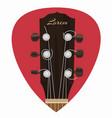 guitar neck icon in mediator form vector image vector image