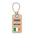 hang tag made in ireland with flag icon isolated vector image