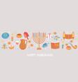 happy hanukkah greeting card vector image