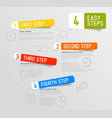 infographic 4 steps template vector image