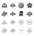 isolated object of emblem and badge sign vector image vector image