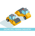 isometric 3d mining industry equipment vector image