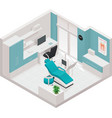 isometric dental clinic icon vector image vector image