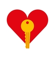 key security isolated icon vector image vector image