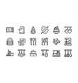 kitchen and cookware icons set 1 vector image
