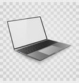 laptop mock up open laptop with white screen vector image