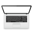 laptop with blank screen isolated on white vector image vector image