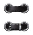 leather belt passed through metal rings vector image