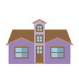 light color silhouette of facade house with attic vector image vector image