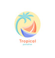 logo tropical ship vector image vector image
