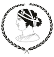 Logo with head of ancient Greek women