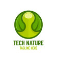 modern technology nature logo vector image