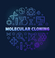 molecular cloning colored thin line round vector image