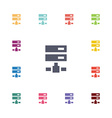 net drive flat icons set vector image