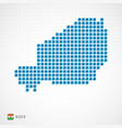 niger map and flag icon vector image