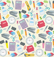 Office supplies seamless background vector image