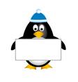 penguin empty board vector image