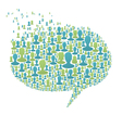 People Speech Bubble vector image vector image