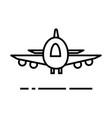 planeairoportfast delivery line icon vector image vector image