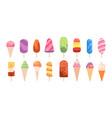 popsicle ice cream summer creamy food frozen vector image