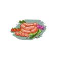 Pork Sausages Vegetables Drawing vector image vector image