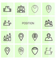 position icons vector image vector image