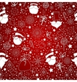 red abstract background with snowflake vector image