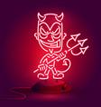 red devil neonyoung demon or devil vector image vector image