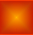 red sunbeams background vector image